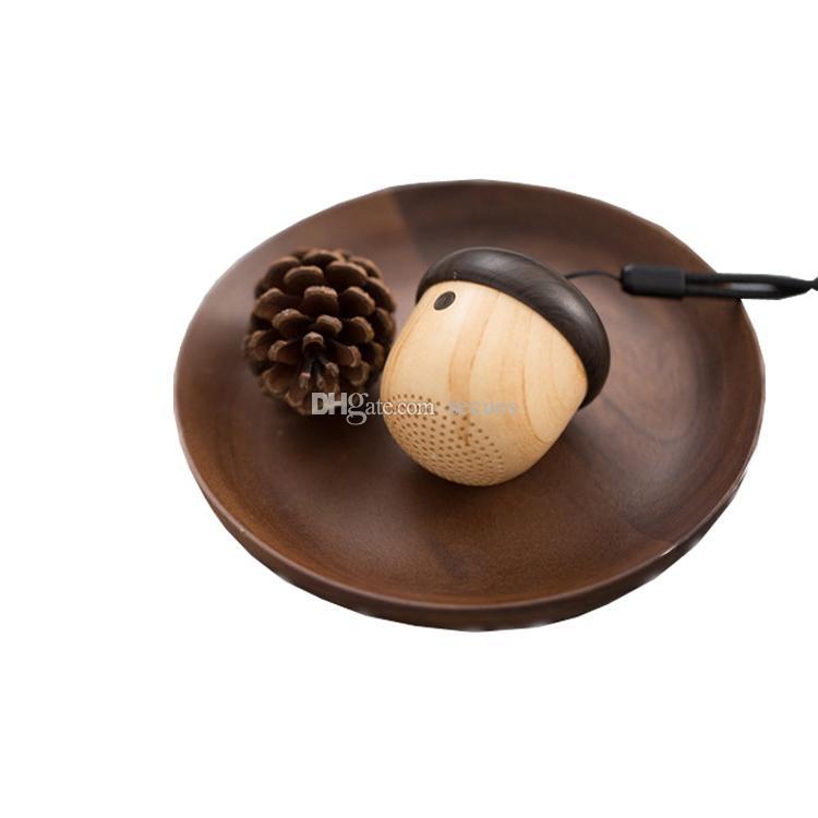 Altoparlante Bluetooth dado in legno Esclusivo Mini portatile con altoparlante ricaricabile con microfono incorporato la scatola da corsa