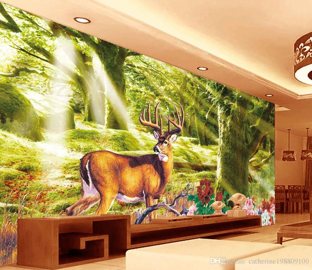 home decoration forest tree dream forest background wall landscape see larger image