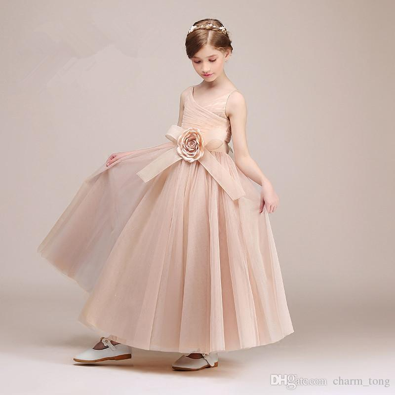 41d41f9b594 Latest Flower Girl Dresses For Wedding Spaghetti Straps Little Girls  Kids Child Dress Fashion Ball Party Pageant Communion Dress Flower Girls  Wedding ...