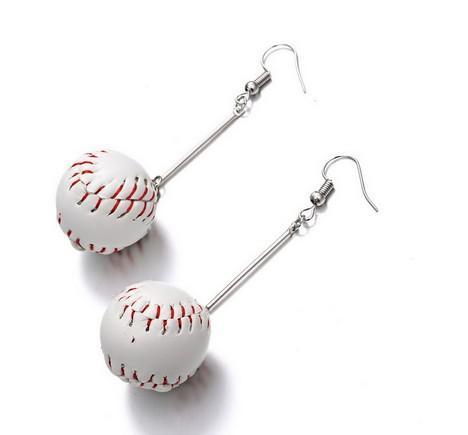 Funny Girls Sports Hook/Clip Earrings Asymmetric & Symmetric Homecoming Gifts Sports Ball School Season Dangling Earrings Clip Earrings