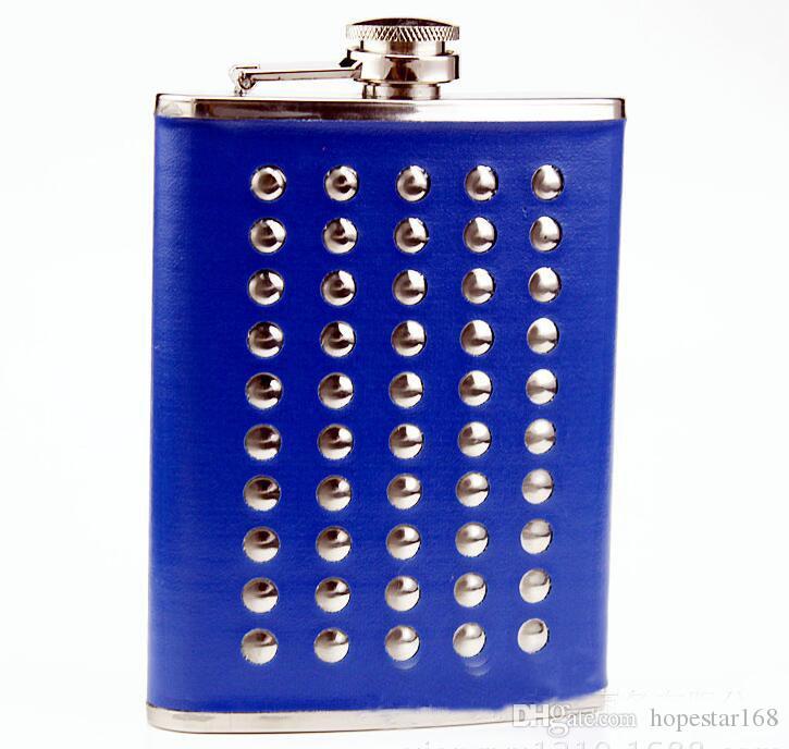 8 oz Rivent Flachmann Trinkflasche Alkohol Whisky Alkohol Tragbarer Edelstahl-Schraubverschluss mit Trichter 2 Farbe