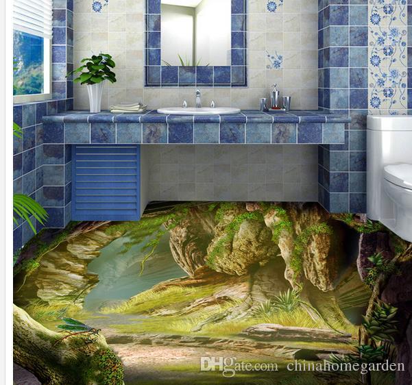 Home Decor Living Room Natural Art 3D Floor Plant Cave