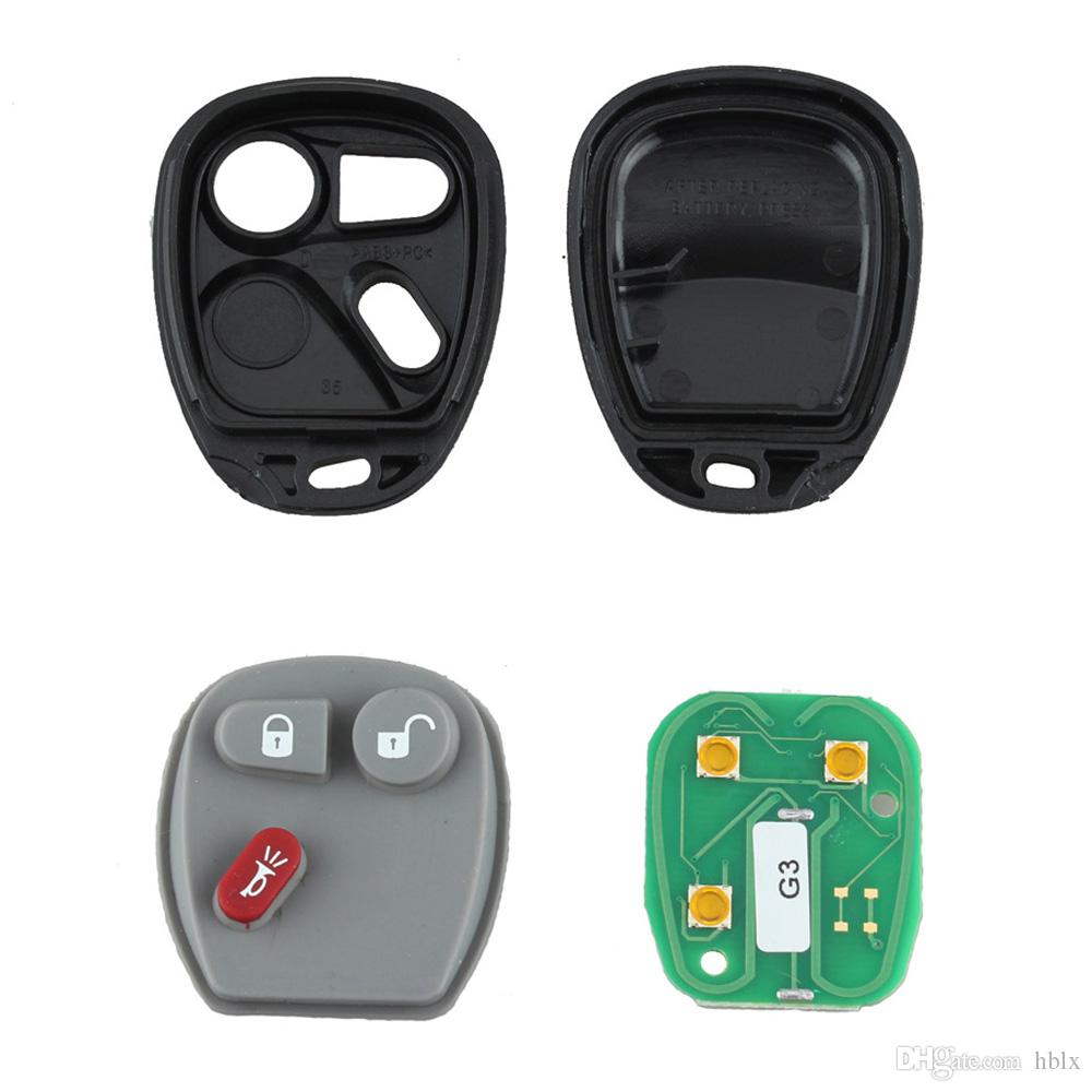 Black Car Three Buttons Keyless Entry Remote Key Fob for Tahoe Silverado Yukon Sierra AUP_42F
