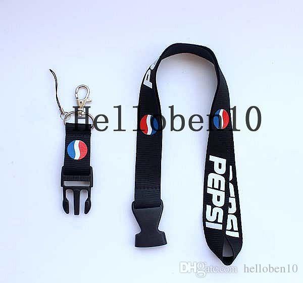 Sıcak! 10 adet Pepsi Kolalı İçecekler kordon askısı ayrılabilir Anahtarlık rozeti tutucu MP3 çekicilik DS Lite