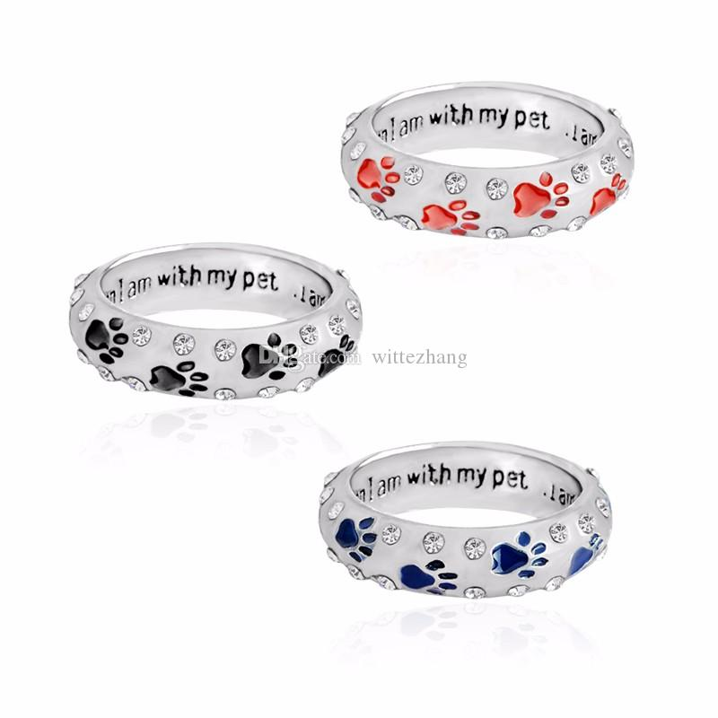 titanium wedding memorial ring band rings pet engagement topaz with