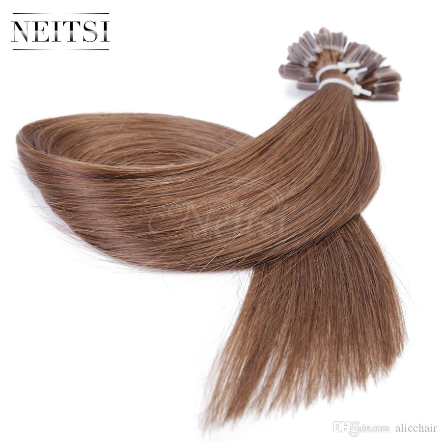 Neitsi 24 Straight Nail U Tip Hair Extensions Top Quality 100 Remy Human 1g S 8 Fusion For Sale Ottawa From