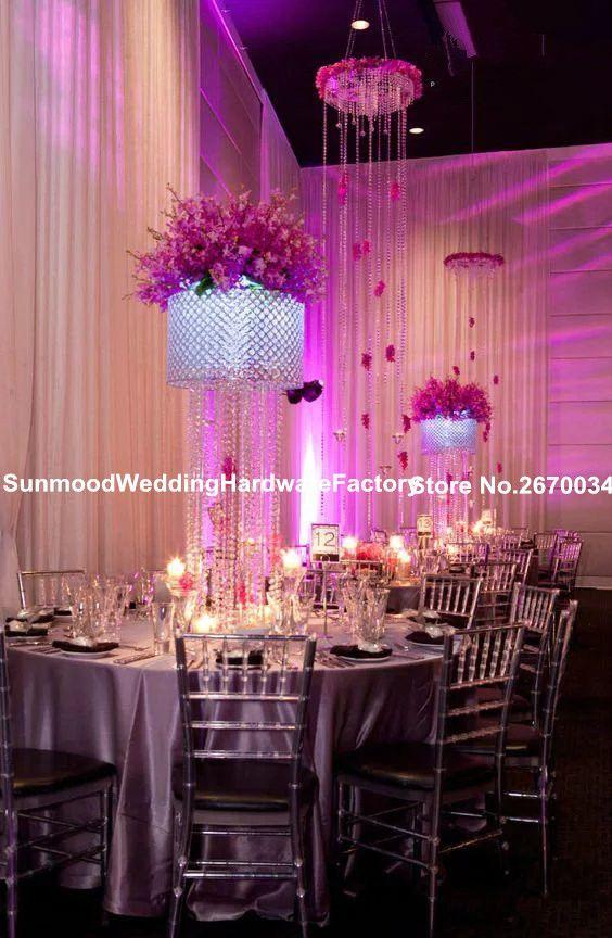 Hot whole elegant wedding backdrop stand / wedding mandap pillar decoration / crystal mandap