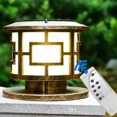 Newest design solar power led post lights remote control led garden newest design solar power led post lights remote control led garden lights led solar lighting home post lamps outdoor villa deck park yark solar power led aloadofball Image collections