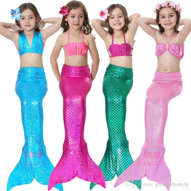 2018 Mermaid Ariel Dresses Halloween Swimming Costume Kids Swimsuit Tail Children Swimsuits Girls Tails Sale Tail Tail Bathing Suit From Goodbabystyle ...  sc 1 st  DHgate.com & 2018 Mermaid Ariel Dresses Halloween Swimming Costume Kids Swimsuit ...