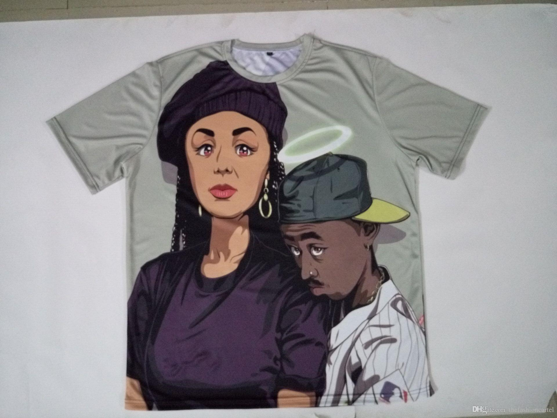 7d68c64f7cc Real USA Size Custom Made Poetic Justice Tupac X Janet Jackson 3D  Sublimation Print T Shirt Unisex Clothing Humorous Shirts Buy Tee Shirts  From ...