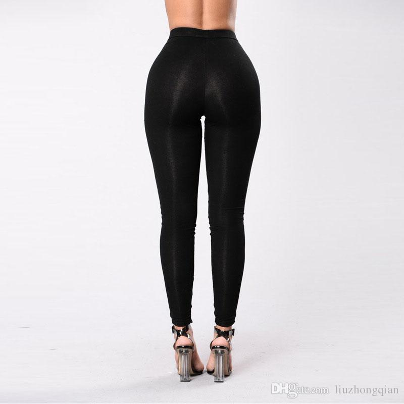 Beauty Garden Women Black Elasticated Waist Sexy Pants 2017 Fashion Casual Comfortable Hollow Out Party Club Capris pants