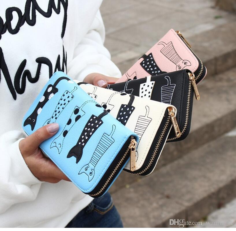 Womens Wallets Purses Famous Brand Designer Coin Credit Card Holder Leather Luxury Wristlet Small Money Clip Wallet Phone PU Leather wallet