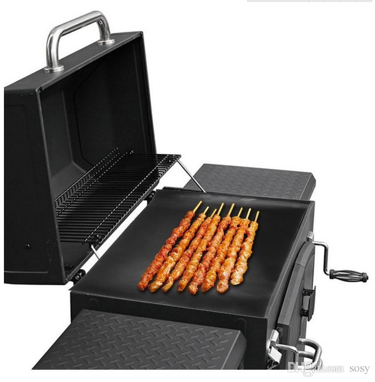 non-stick reusable Teflon BBQ Grill mat extra thick grilling sheet FDA teflon baking mat BBQ tool