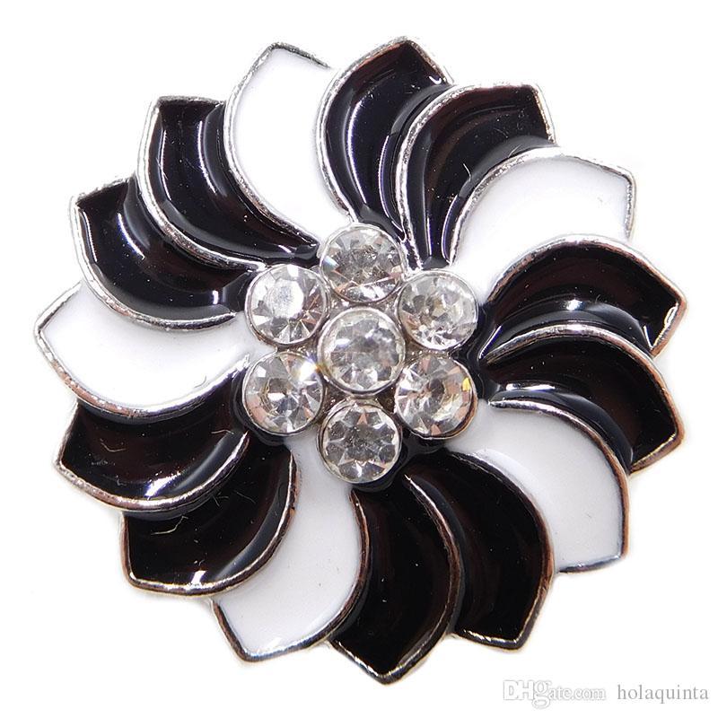 commercio all'ingrosso 18mm snap gioielli noosa smalto pezzi bottoni a pressione zenzero gioielli economici