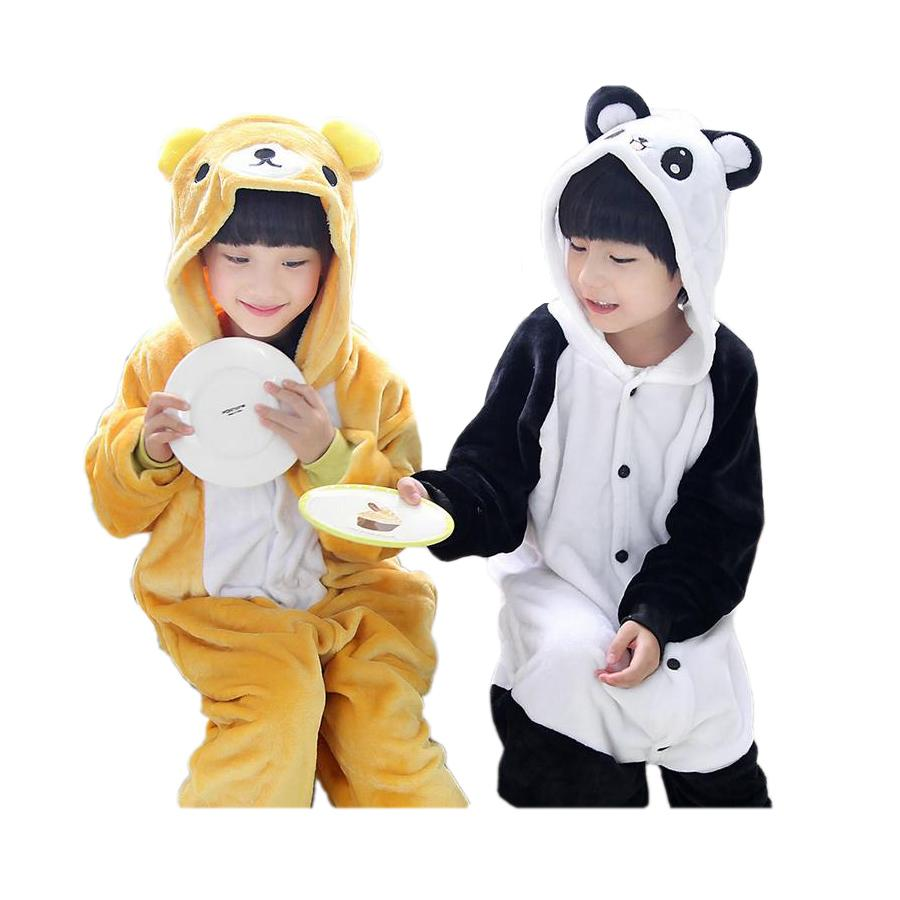 98d0a5731b5f Cute Kids One Piece Pajamas Cartoon Ted Bear Panda Style Sleepwear For 3  10yrs Chilren Boys Girls Onesie Pajamas Night Clothes Cheap Kids Pajamas  Sale Cheap ...