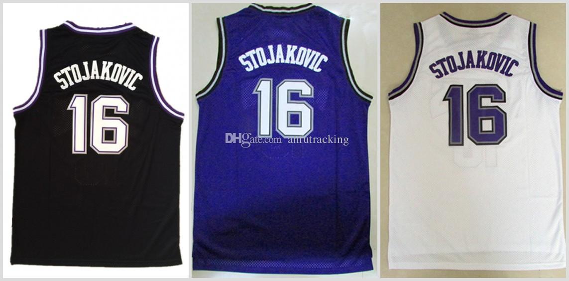 75ea9aa6b ... 2017 Wholesale 16 Peja Stojakovic Throwback Jerseys Men Basketball Peja  Stojakovic Jersey Sport All Stitched Black Kings ...