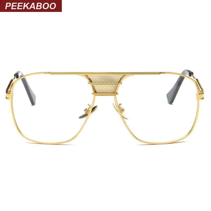 e94b171caf Wholesale- Peekaboo New Black Eye Glasses Frames for Men Women High ...