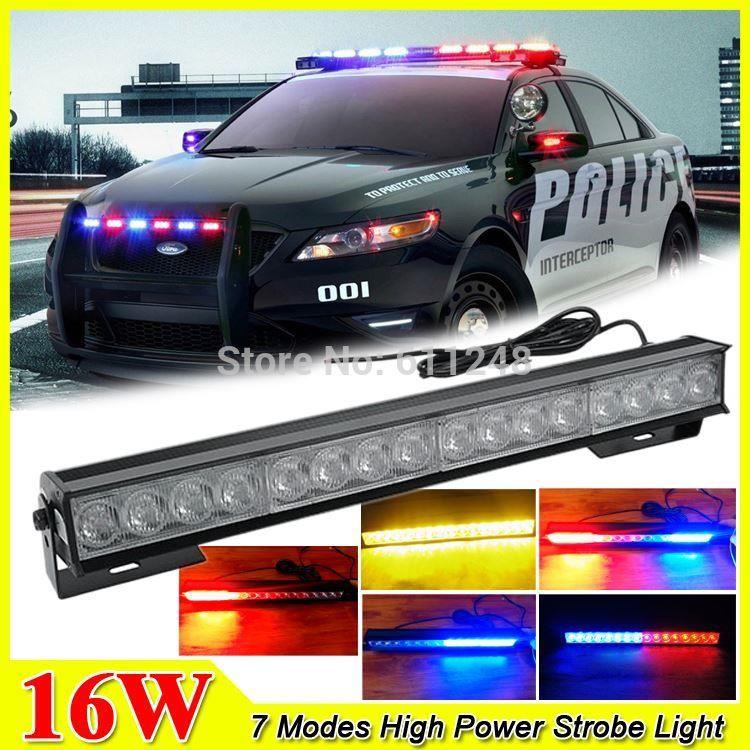 Police Led Lights >> 2019 New 16w Hight Power Strobe Light Fireman Flashing Police