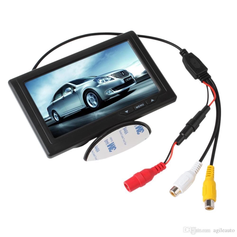 Pantalla trasera de 4,3 pulgadas. Monitores Pantalla TFT LCD a color Soporte de entrada de video de 2 canales Pantalla multifunción CMO_332