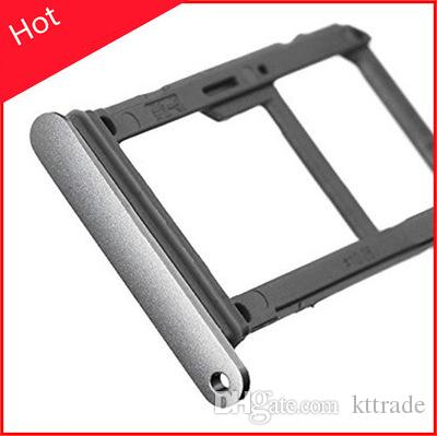 For 100% New Double Sim Micro SD Memory Card Tray Holder Slot For Samsung Galaxy S7 G930 s7 edge G935