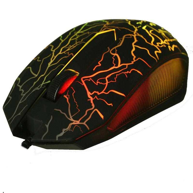 Malloom 2017 Yeni 6 tuşları Profesyonel Renkli LED Aydınlatmalı 4000 DPI Optik Kablolu Gaming Mouse Gamer Fareler PC PC Için sem fio