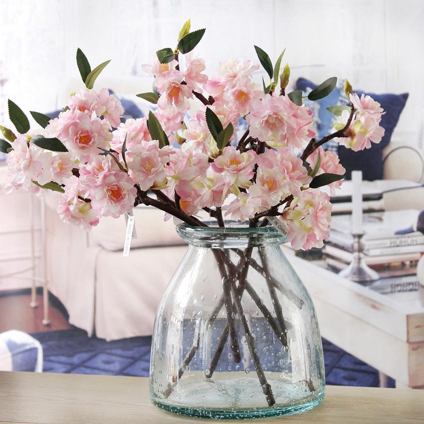 artificiels faux fleur de cerisier fleur de soie Hydrangea Hydrangea Accueil Jardin Décor Partie Décorations de mariage Nouveau