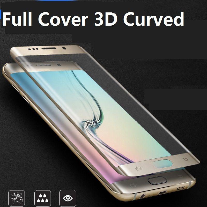 47b1d53feb1 Protector Celular Para Samsung Galaxy S6 Borde S6 Edge Plus S7 S7 Edge S8  S8 PLUS Cubierta Completa 3D Curvo Protector De Pantalla De Vidrio Templado  ...