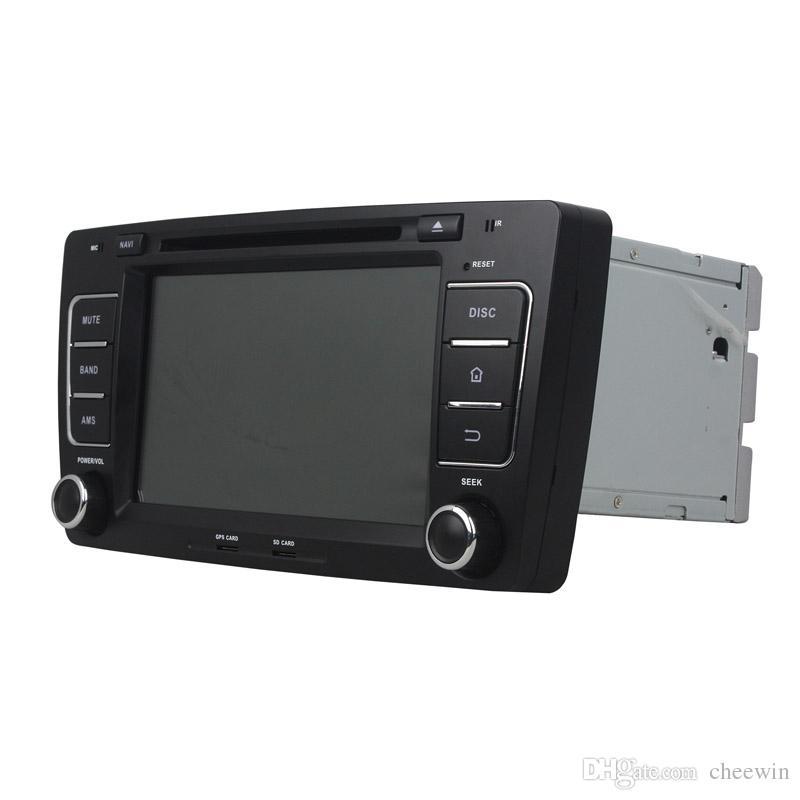 Pantalla HD de 8 pulgadas Reproductor DVD de coche Andriod 5.1 para SKODA OCTAVIA 2012 con GPS, control del volante, Bluetooth, radio