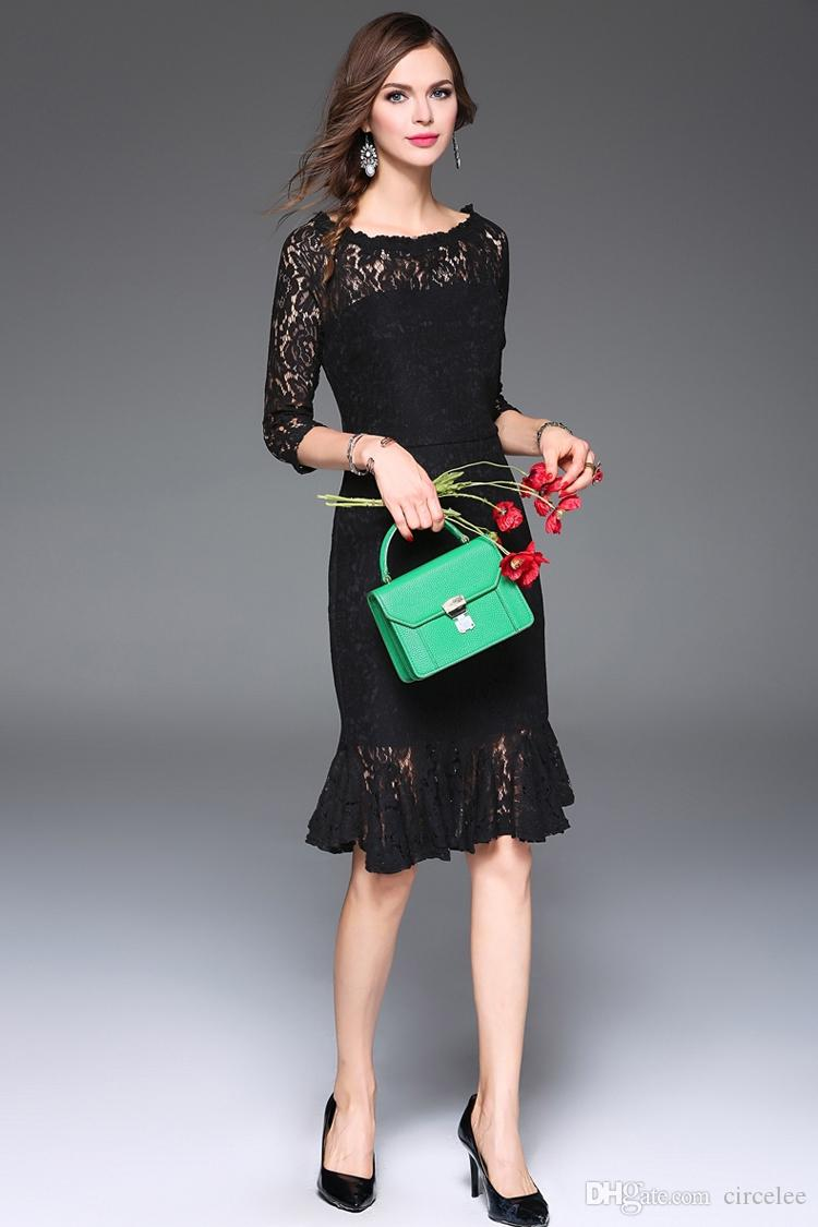 Classic Black Party Wear Evening Gowns Short Lace Prom Dresses Long Sleeve Sweetheart Cocktail Dress For Women Celebrity Short Dress