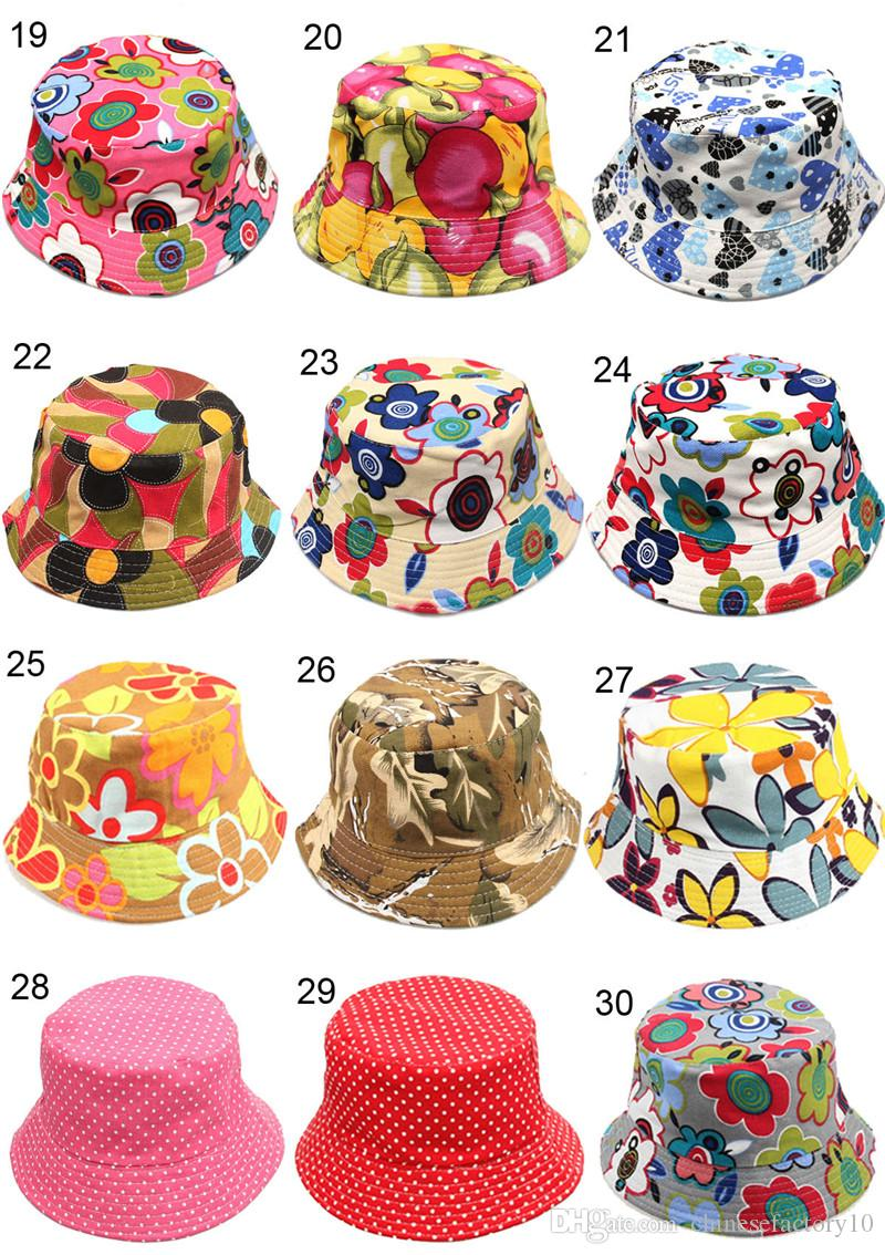 2019 Kids Printed Bucket Hat Toddler Topee Printed Flower Strawberry Apple  Cherry Children Hats Kids Bucket Sun Hat From Chinesefactory10 1938413ccfc
