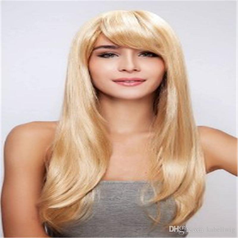 Virgin Human Hair 100% Wig Blonde Blonde Brazil Is Full Lace Wig 613# Human Hair Wig Is Full Of My Shoes Full Lace Human Hair Wigs Silk