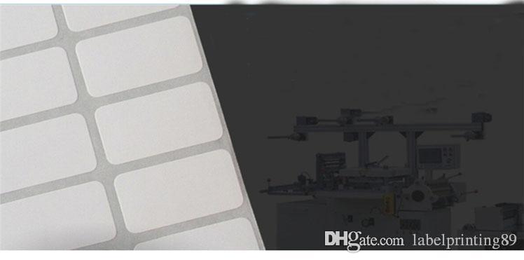 50 * 40mm 2000 stücke / rolle leere weiß büro beschichtetes papier barcode selbstklebende aufkleber etikettendrucker direkt logistische handwriting aufkleber