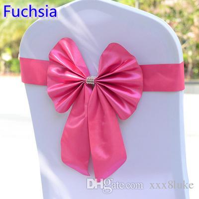 Großhandel Fuchsia Farbe Stuhl Schärpe Schmetterling Stil Fliege ...