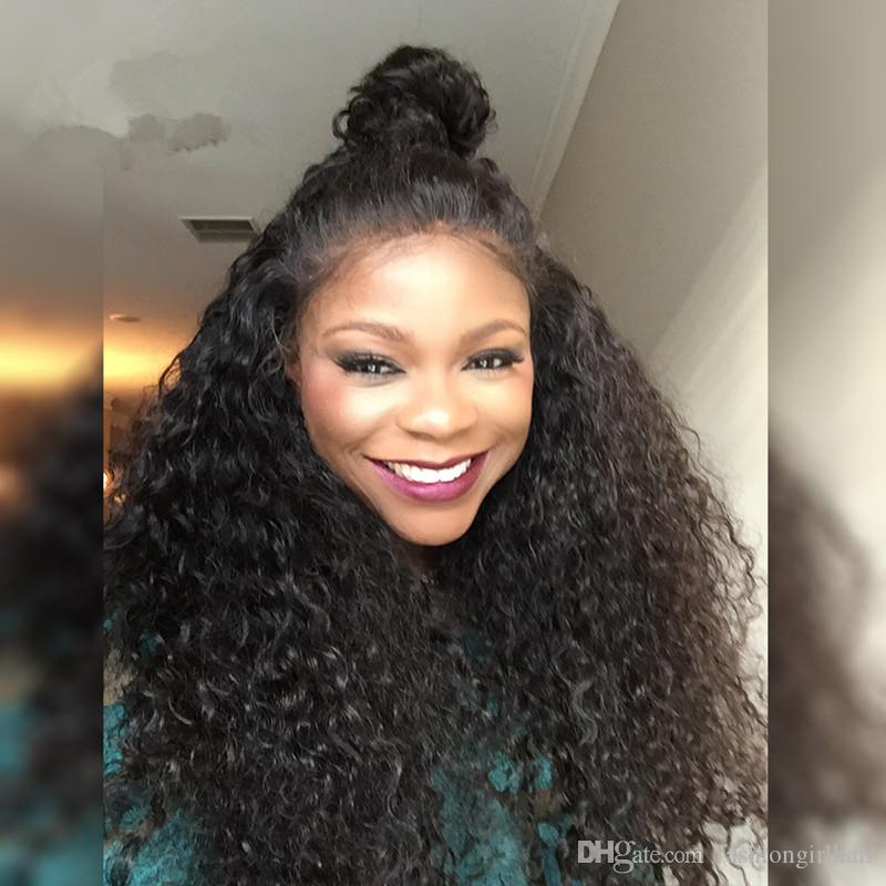 Synthetic Lace Front Wigs With Baby Hair Cheap loose curly Synthetic Wig Lace Front For Black Women Long Curly Lace Front Wig Synthetic