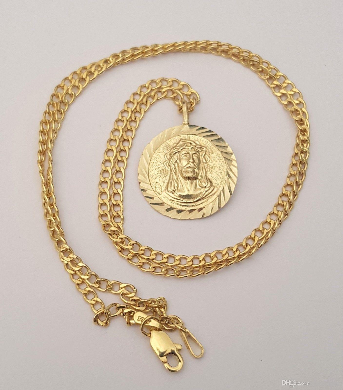 medusa pendant gemstone medallion link gold rc cuban