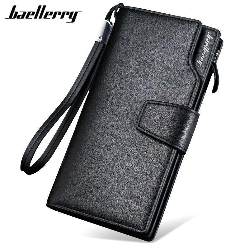 Fashion New Baellerry Luxury Brand Men Wallets Long Men Purse Wallet Male  Clutch Leather Zipper Wallet Men Business Male Wallet Coin Pocket Nylon  Wallet ... 636d5e7555