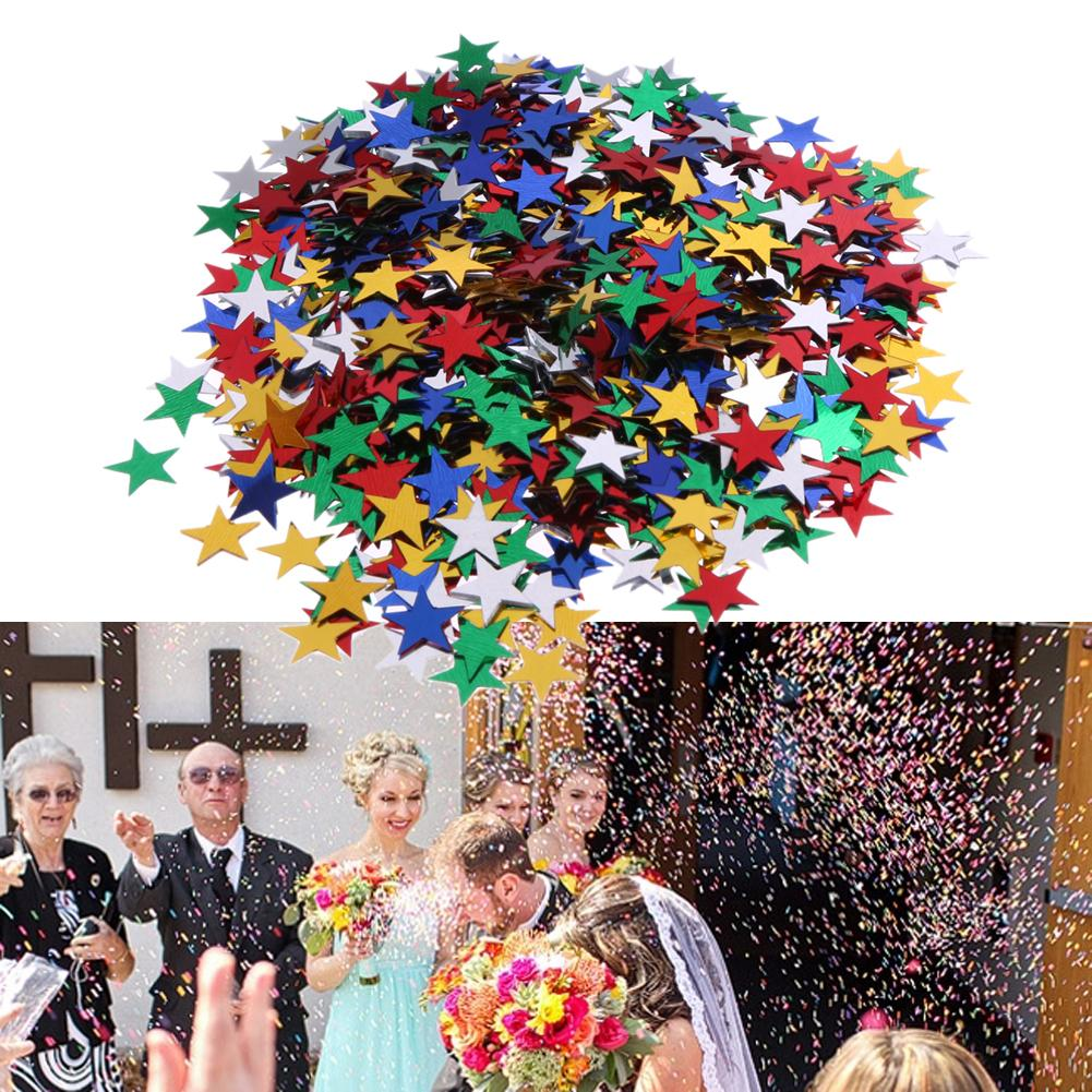 10mm Sparkling Paper Pentagram Tissue Paper Confetti Wedding Birthday Party Decorative Supplies Confetti 10 Packs=10000pcs