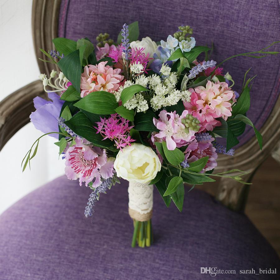 Fresh pastoral mori wedding bridal bouquets 2017 purple hyacinth see larger image dhlflorist Choice Image