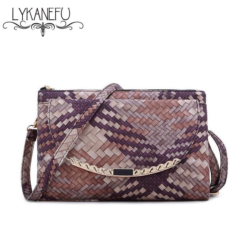 7deb3856d89 ... Wholesale- Colorful Knitting Handbags Women Messenger Bags Envelope  Clutches Women Purse And Handbag with Long ...