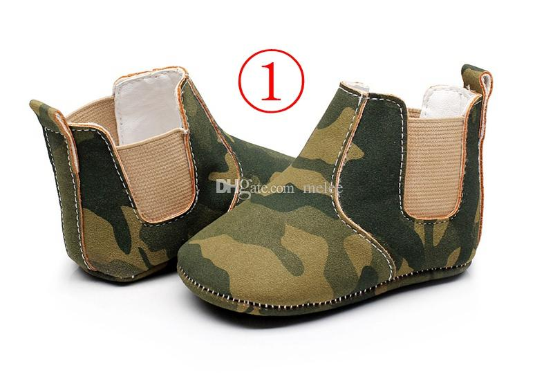 baby leopard prewalker booties infant camouflage soft sole walking shoes children pu leather firstwalking shoes choose free ship