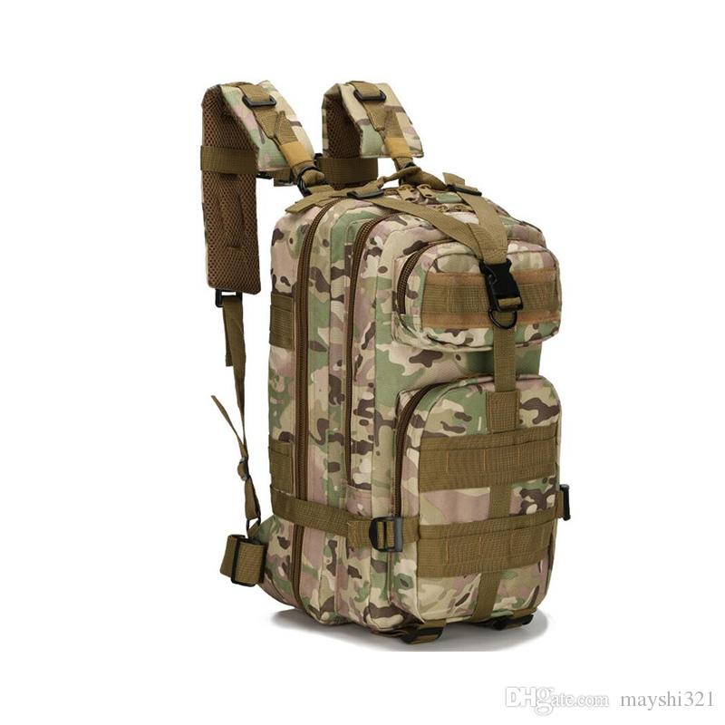 e5bc41f62bc6 2019 2017 Sport Bags 30L Army 3P Molle Tactical Backpack Oxford Waterproof  Camo Military Bag For Camping Hiking Trave From Mayshi321