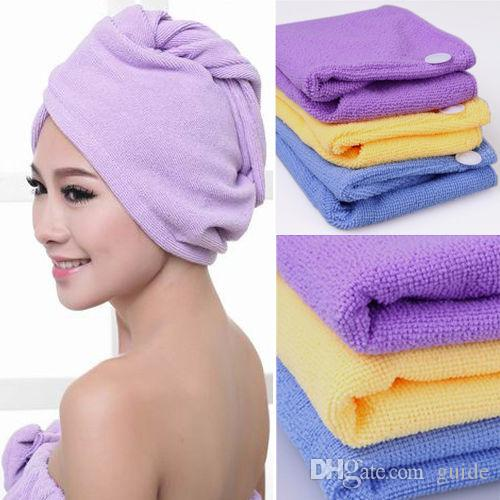 hot microfiber magic hair dry drying turban wrap towelhatcap quick dry dryer bathmake up towel towel online polka dot towels from guide