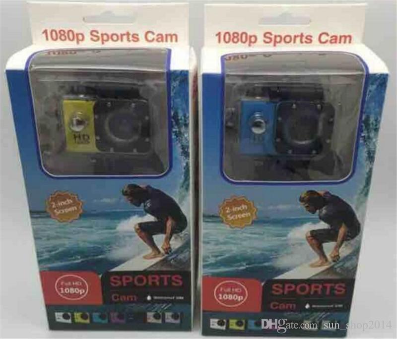 10 pz SJ4000 1080 P Full HD Azione Digital Sport Camera 2 Pollice Schermo Sotto Impermeabile 30 M DV Registrazione Mini Sking Bicicletta Foto Video