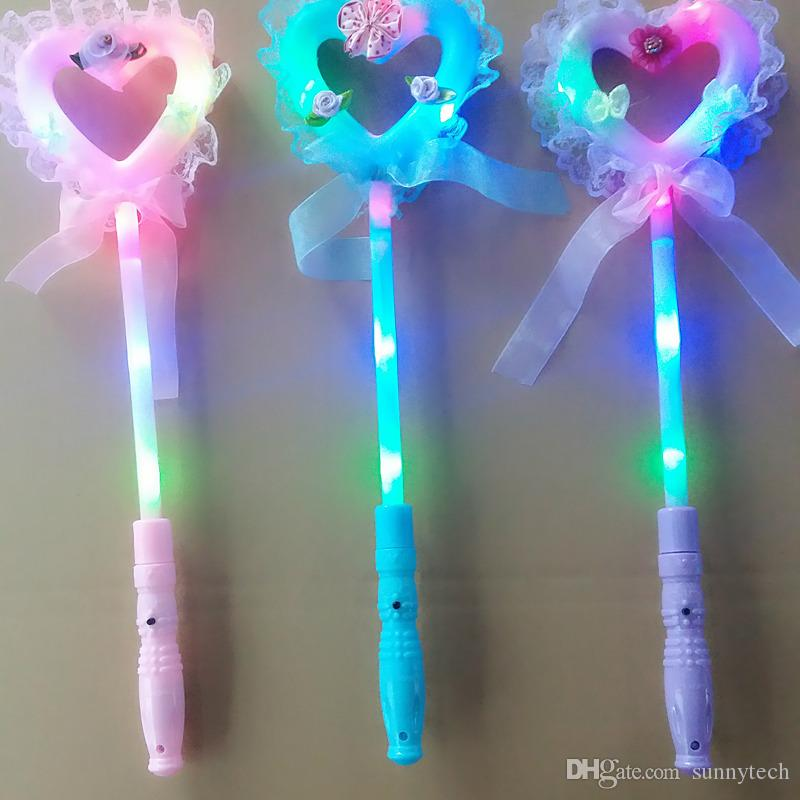 Spaß blinkende Stick Liebe Herz Fairy Stick Beleuchtung Zauberstab Konzert Jubel Requisiten Halloween Party Supplies F2017478