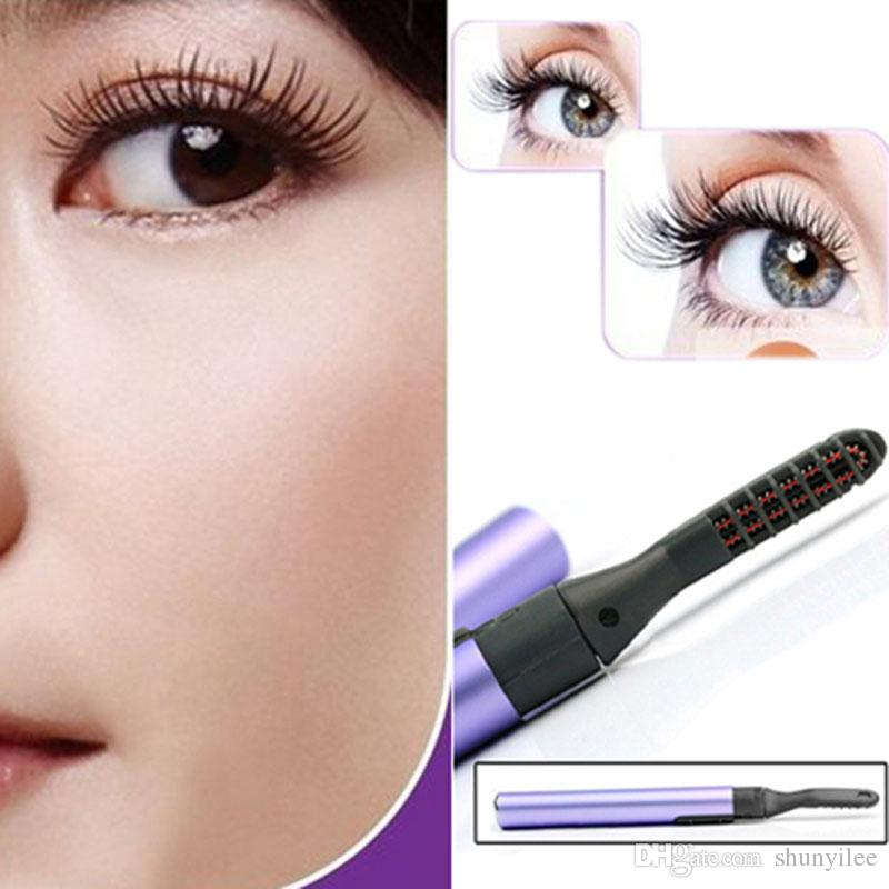 Portable Pen Style Electric Heated Makeup Eye Lashes Long Lasting Eyelash Curler Roll Eye Lashes Curlers Make Up Props ZA2011