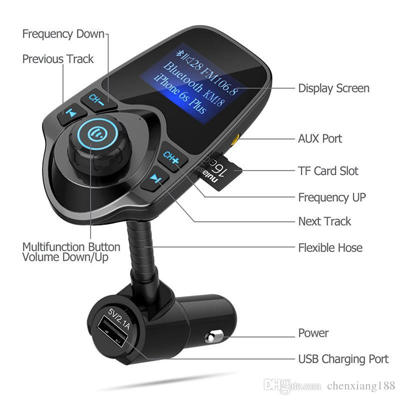 Car MP3 Audio Player Bluetooth FM Transmitter Wireless FM Modulator Car Kit HandsFree LCD Display USB Charger For Mobile