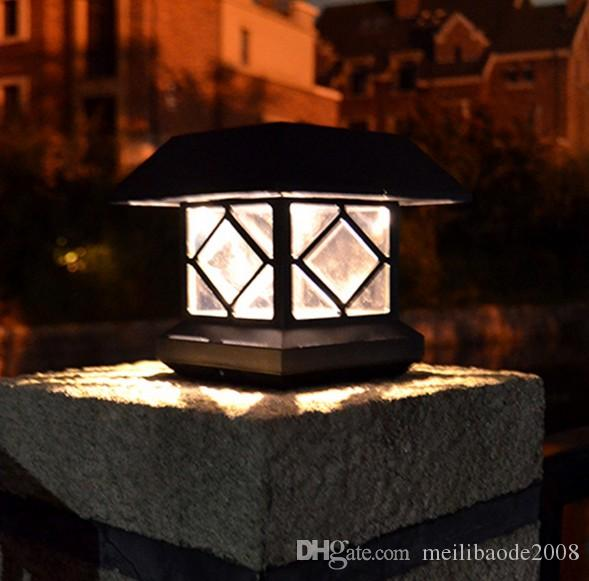 2018 solar column headlights outdoor lights garden lights fence solar column headlights outdoor lights gardeng mozeypictures Gallery