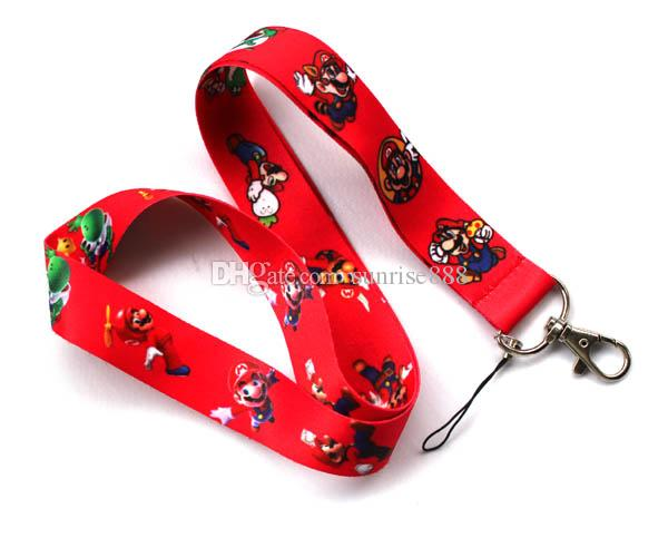 Hot sale wholesale cartoon Animation image phone lanyard fashion keys rope neck rope card rope 422