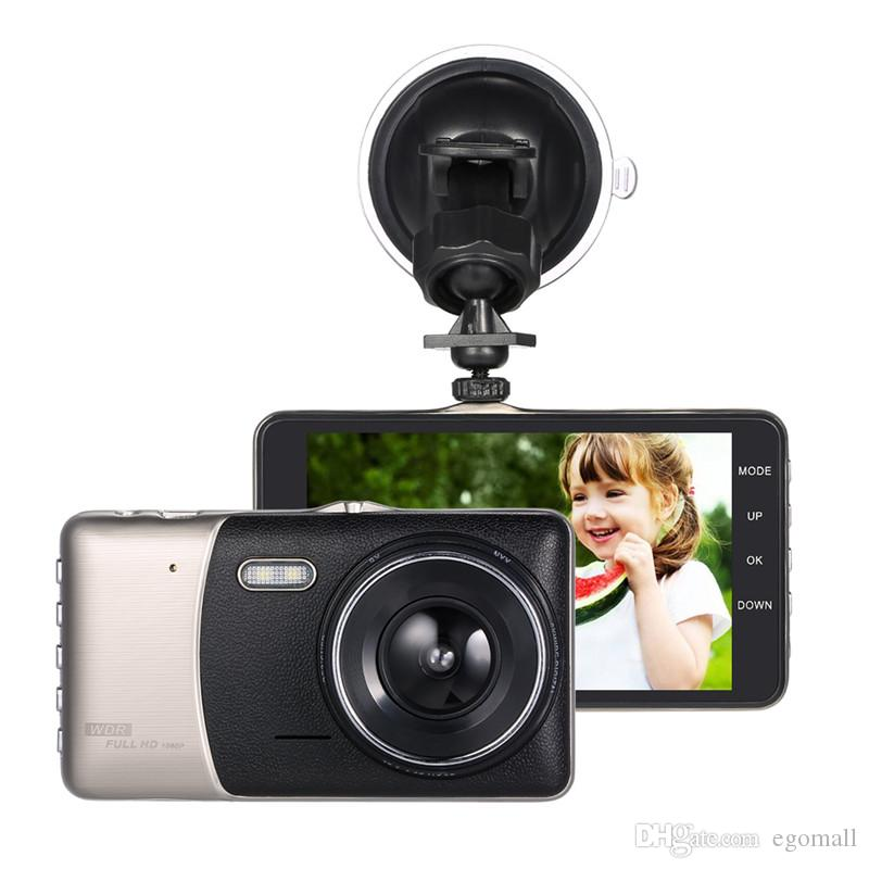 "4""Dual Lens Car DVR Camera Recorder Dash Cam Camcorder Full HG 1080p LED Night Vision / Motion Detection / Loop Recording"
