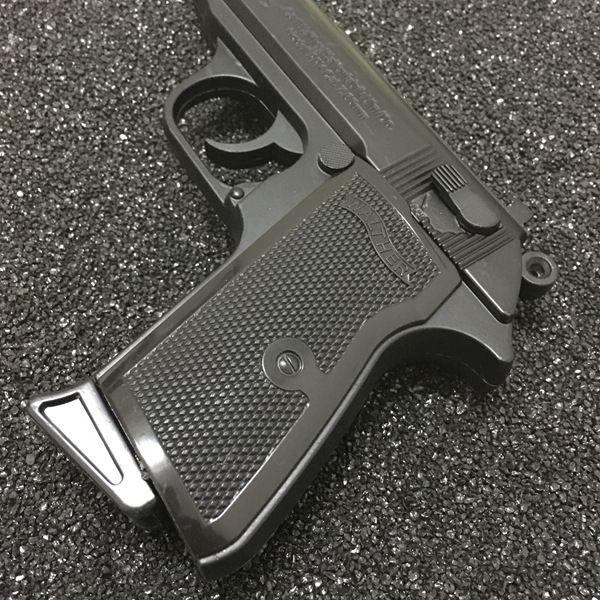Large Metal Pistol 64 PKK Browning Military Model Gun Prop Metal Lighter Windproof 1: 1 Metal Revolver Type Gun Lighter.